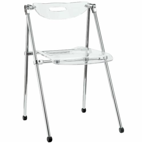 Telescope Folding Chair - Clear Perspective: front