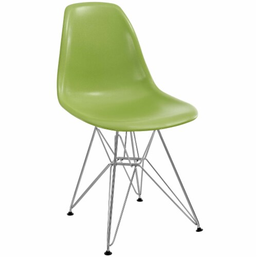 Paris Dining Side Chair - Green Perspective: front