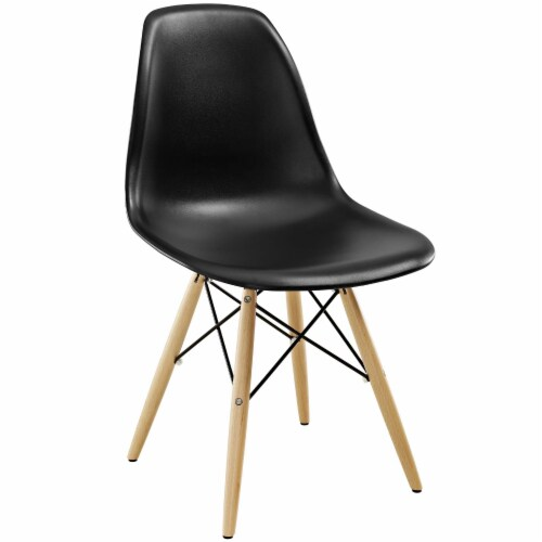 Pyramid Dining Side Chair - Black Perspective: front
