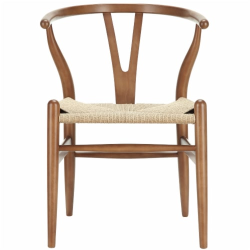 Amish Dining Wood Armchair - Walnut Perspective: front