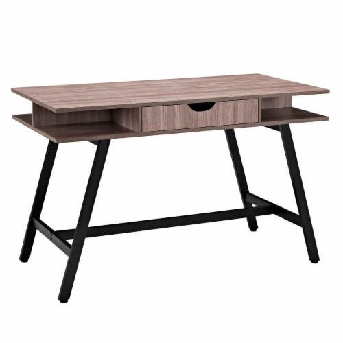 Turnabout Office Desk - Birch Perspective: front