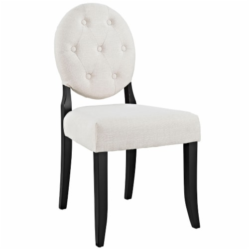 Button Dining Side Chair - Beige Perspective: front