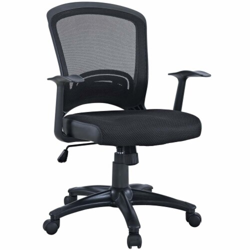 Black Pulse Mesh Office Chair Perspective: front