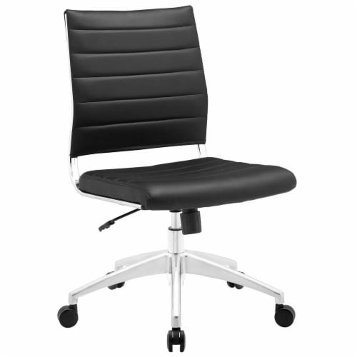 Black Jive Armless Mid Back Office Chair Perspective: front
