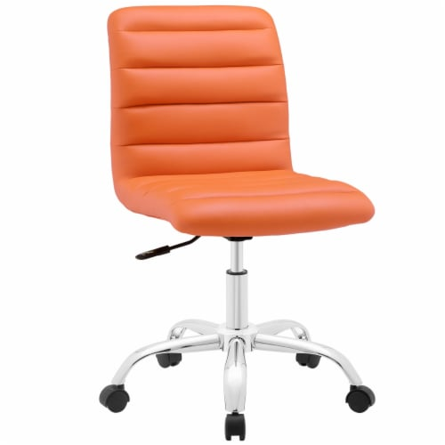 Ripple Armless Mid Back Office Chair, EEI-1532-ORA Perspective: front