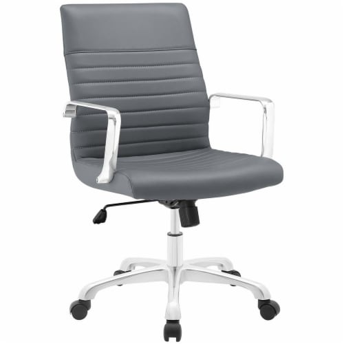 Gray Finesse Mid Back Office Chair Perspective: front