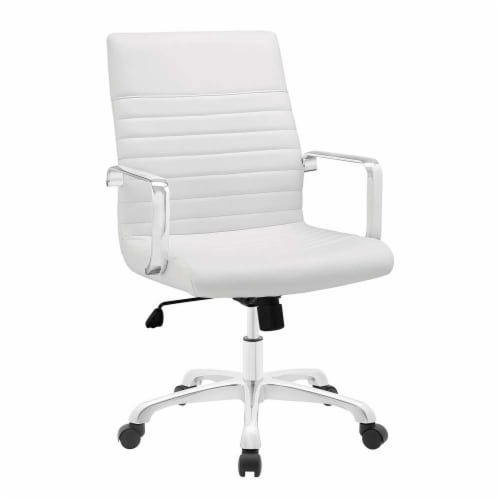 White Finesse Mid Back Office Chair Perspective: front