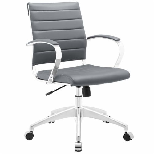 Gray Jive Mid Back Office Chair Perspective: front