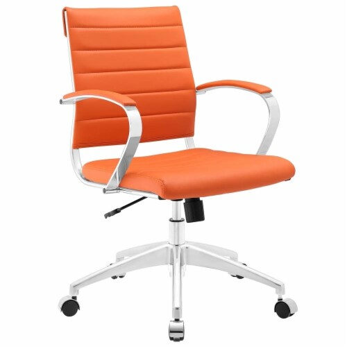 Orange Jive Mid Back Office Chair Perspective: front