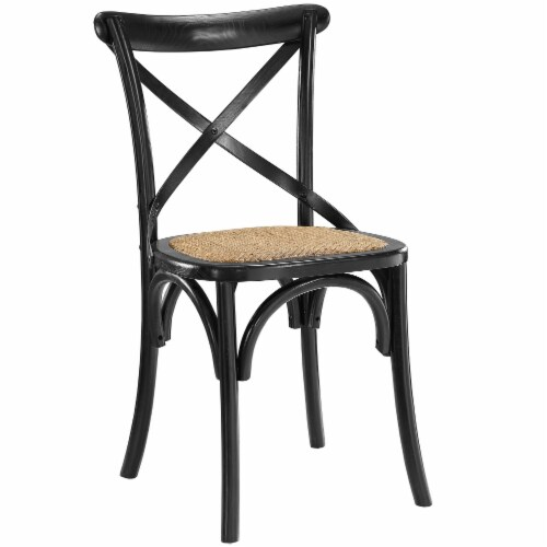 Gear Dining Side Chair - Black Perspective: front