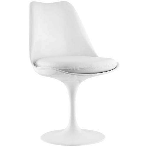 Lippa Dining Vinyl Side Chair - White Perspective: front