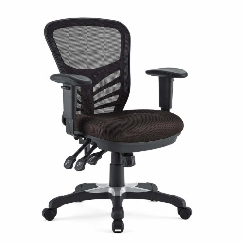 Articulate Mesh Office Chair, EEI-757-BRN Perspective: front