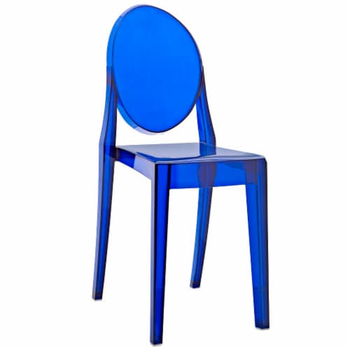 Casper Dining Side Chair - Blue Perspective: front