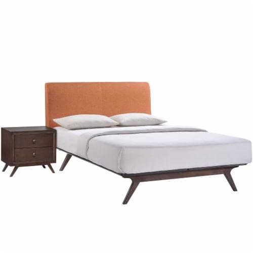 Tracy 2 Piece Queen Bedroom Set - Cappuccino Orange Perspective: front