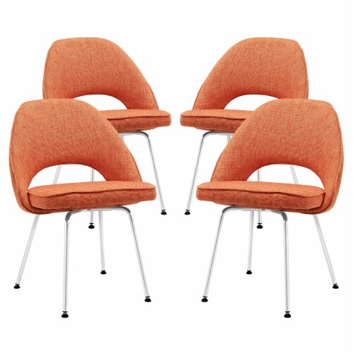 Cordelia Dining Chairs Set of 4 - Orange Perspective: front