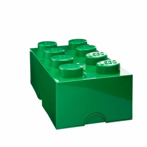 LEGO Mini Box 4, Dark Green Perspective: front