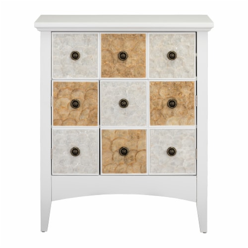 """Elegant Home Fashions Gozo 32"""" Accent Cabinet 2 Doors 1 Drawer White ELG-655 Perspective: front"""