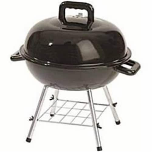 Rankam Manufacturing 232661 14 in. Charcoal Kettle Grill with Ash Catcher, Black Perspective: front
