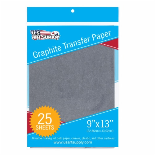 9  X 13  Graphite Transfer Paper - 25 Sheets Perspective: front