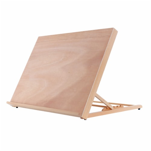 X-Large 25-5/8  Wide x 19  Tall (A2) Artist Adjustable Wood Drawing Sketching Board Perspective: front