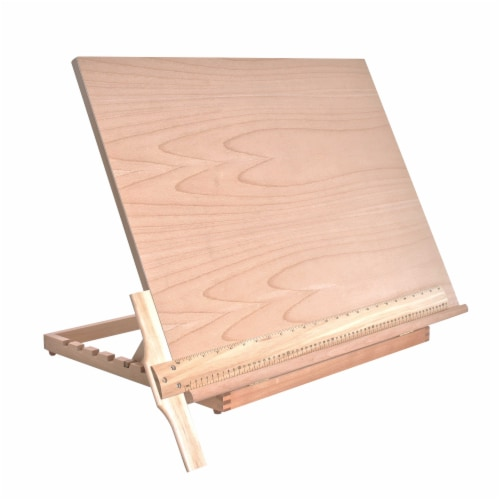 Extra Large Adjustable Wood Artist Drawing & Sketching Board 26  Wide x 21  Tall Perspective: front
