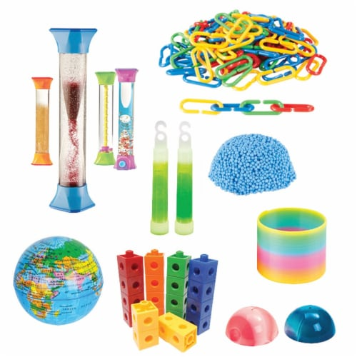 Hand2Mind Children's Sensory Fidget Toy with Multiple Calming Tubes Perspective: front