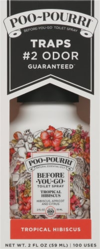 Poo-Pourri Before•You•Go Toilet Spray - Tropical Hibiscus Perspective: front