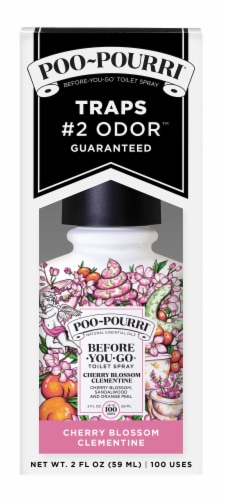 Poo-Pourri Cherry Blossom Clementine Toilet Bowl Spray Perspective: front