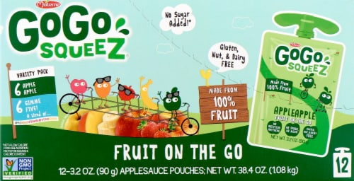 GoGo SqueeZ Apple Apple & Gimme Five Variety Pack Perspective: front