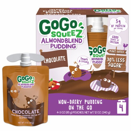 GoGo Squeez Almond Blend Chocolate Pudding Perspective: front