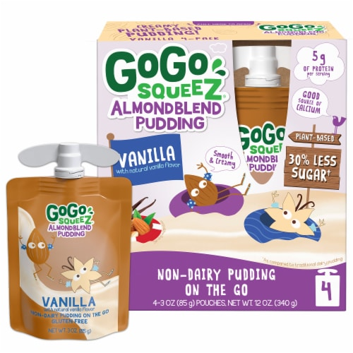 GoGo Squeez Almond Blend Vanilla Pudding Perspective: front