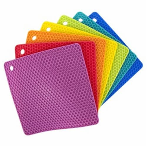 Core Home 220744 Silicone Square Trivet, Assorted 1 Per Order Perspective: front