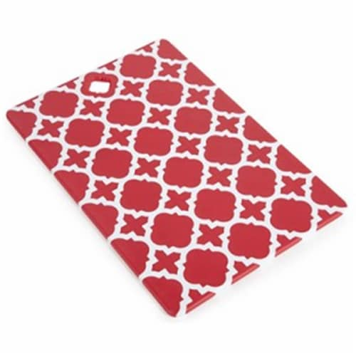 Core Home 220760 White Cut Board - Large, Red Perspective: front