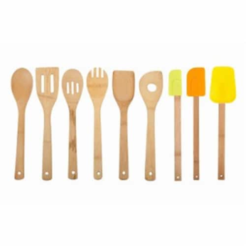 Core Home 214996 Paris Bamboo Utensil Set - 9 Piece Perspective: front