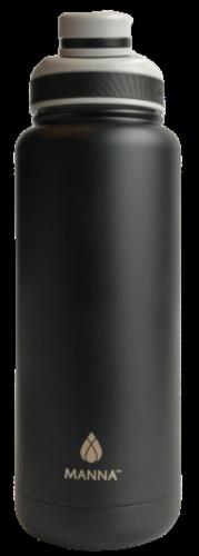 Manna Ranger Water Bottle - Black Perspective: front