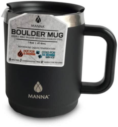 Manna Boulder Mug - Black Perspective: front