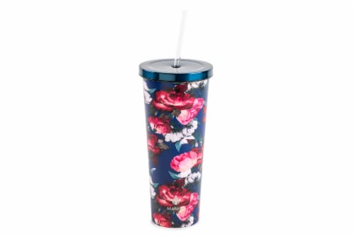 Manna Chilly Tumbler - Blue Flowers Perspective: front