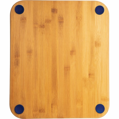 Core Bamboo 13.5 In. Square Natural Sapphire Foot Grip Cutting Board DBC27697 Perspective: front
