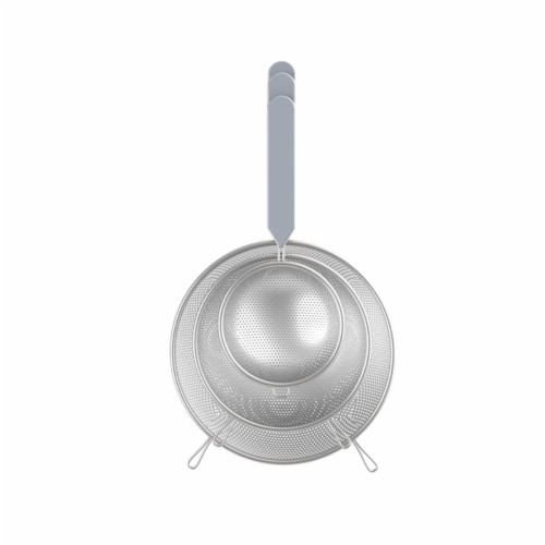 Core Kitchen 6012634 Gray ABS & Stainless Steel Strainer Perspective: front