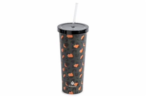 Manna Chilly Cheetah Tumbler - Black/Orange Perspective: front