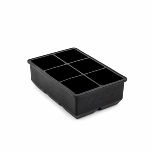 Core Kitchen 6012621 Onyx Silicone Ice Cube Tray Perspective: front