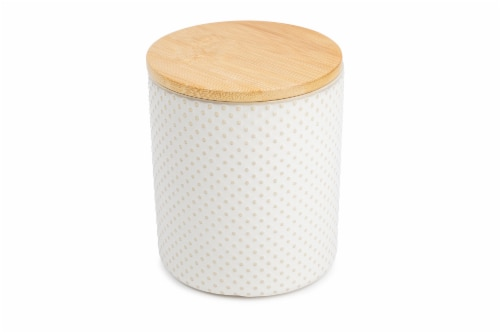 Core Home Small Textured Canister - White Perspective: front
