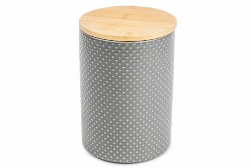 Core Home Medium Textured Canister - Gray Perspective: front