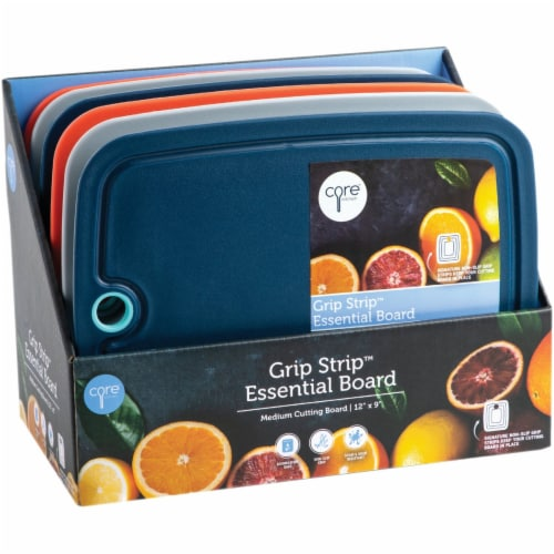 Core Kitchen Essential Grip Strip 9 In. x 12 In. Medium Cutting Board Pack of 6 Perspective: front