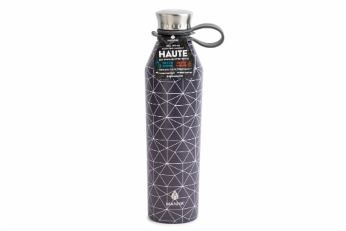 Manna Haute Stainless Steel Water Bottle - Geometric Perspective: front