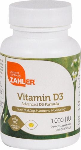Zahler Vitamin D3 Softgels 1000IU Perspective: front