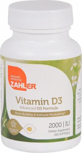 Zahler Vitamin D3 Softgels 2000IU Perspective: front