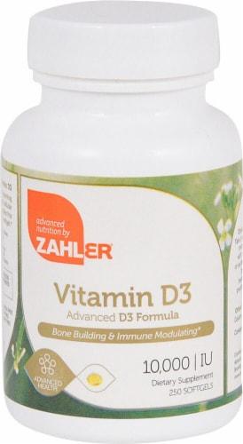 Zahler Vitamin D3 Softgels 10000IU Perspective: front