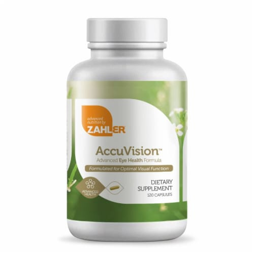 Zahler AccuVision Advanced Eye Health Dietary Supplement Capsules Perspective: front