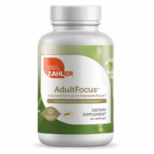 Zahler AdultFocus™ Dietary Supplement Perspective: front